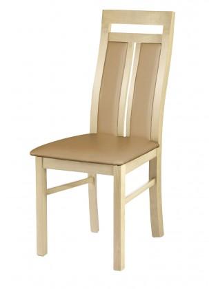 Stolička Werona - jedálenská stolička (drevo - dub sonoma/poťah - syntetická koža)
