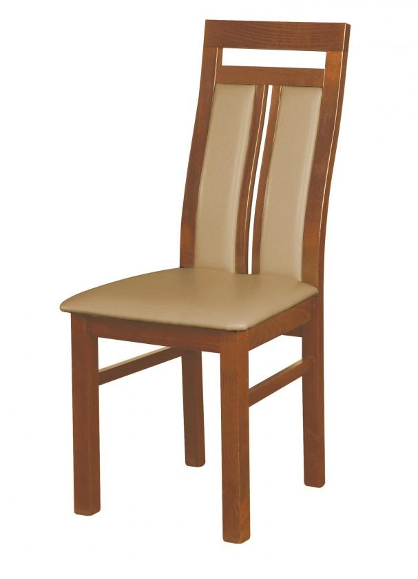 Stolička Werona - jedálenská stolička (drevo - svetlý orech/poťah - syntetická koža)