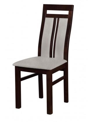Stolička Werona - jedálenská stolička (drevo - tmavý orech/poťah - látka)