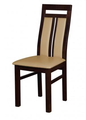 Stolička Werona - jedálenská stolička (drevo - tmavý orech/poťah - syntetická koža)