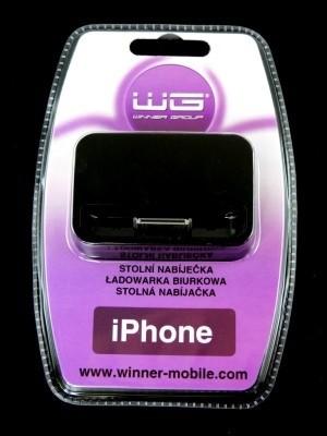 Stolná nabíjačka iPhone 4 black