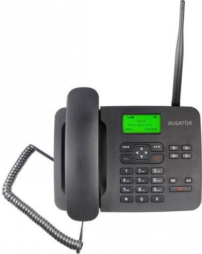Stolný telefón na SIM kartu Aligator T100, čierny