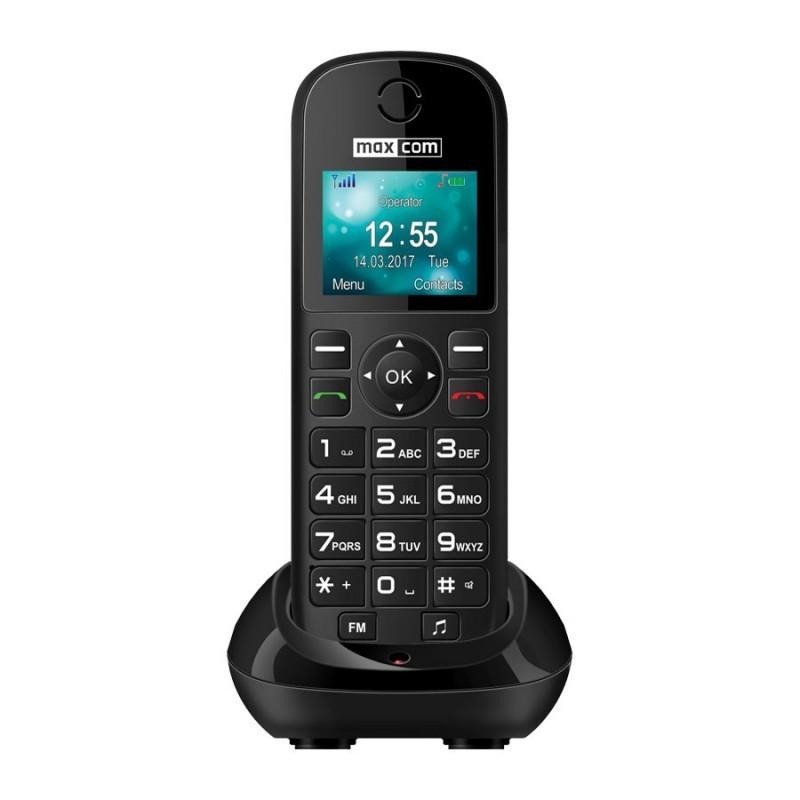 Stolný telefón Stolný GSM telefón Maxcom Comfort MM35D, čierna POUŽITÉ, NEOPOTRE