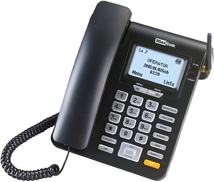 Stolný telefón Stolný GSM telefón Maxcom MM28D, čierna