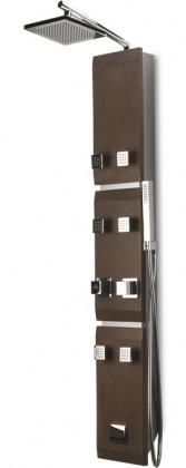 Stone 451k  Sprchový hydromasážny panel (hnědá)