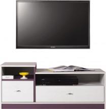 Stone - TV stolík ST9 (biela, fialová)