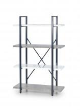 Stonno - regál nízký (bielá/beton)