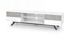 Stonno - TV stolík (bielá/beton)