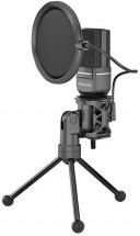 Streamovací mikrofón Marvo MIC-03, čierny, s otočným tripodom