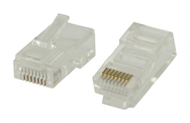 Štruktúrovaná kabeláž Konektory RJ45 pre UTP CAT5 kab.s drát.vodiči 10 ks-VLCP89300T