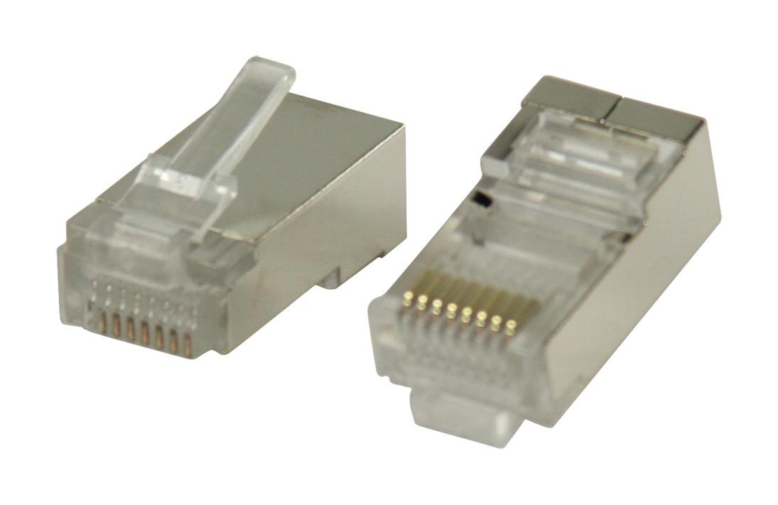 Štruktúrovaná kabeláž Konektory RJ45 STP CAT5 káble s lankovými vodičmi 10 ks
