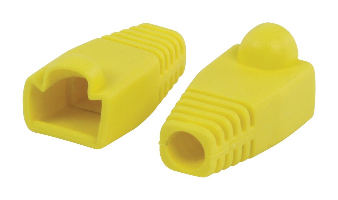 Štruktúrovaná kabeláž Ochranný kryt konektora RJ45, žltý 10 ks