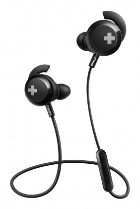 Štupľové Bezdrôtové slúchadlá Philips SHB4305BK, čierna