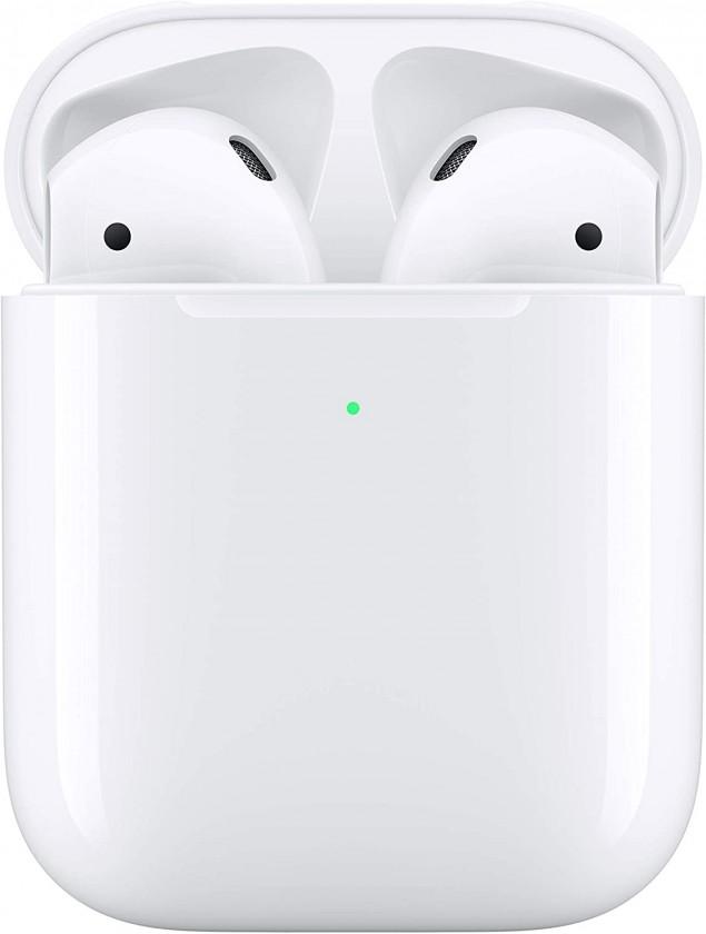 Štupľové Bluetooth slúchadlá Apple AirPods 2019, biela