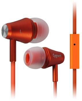 Štupľové Cygnett Fusion II, Slúchadlá s mikrofónom - Orange