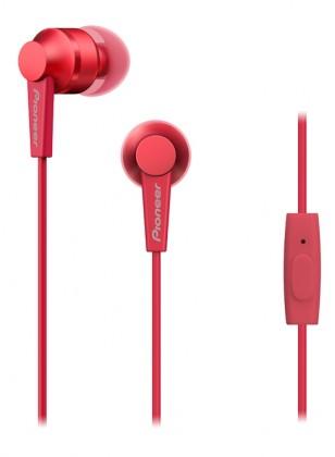 Štupľové PIONEER SE-C3T-R slúchadlá / červené