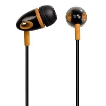 Štupľové Slúchadlá ME-299, silikónové špunty, čierna / oranžová