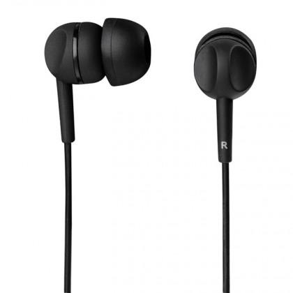 Štupľové Slúchadlá s mikrofónom Thomson EAR3203, čierna