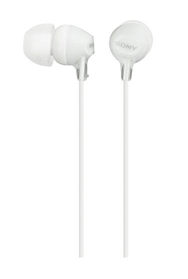 Štupľové Sony MDR-EX15LP, biele