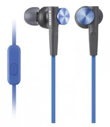 Štupľové Sony MDR-XB50AP Blue