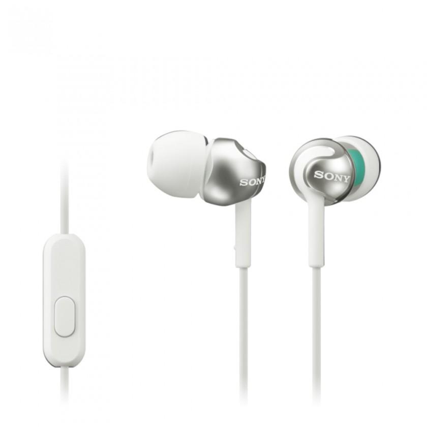 Štupľové Sony Slúchadlá MDR-EX110AP biela