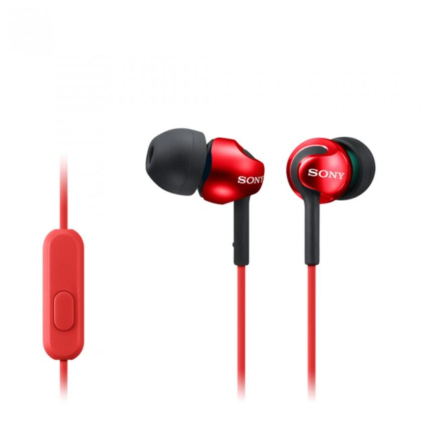 Štupľové Sony Slúchadlá MDR-EX110AP červená