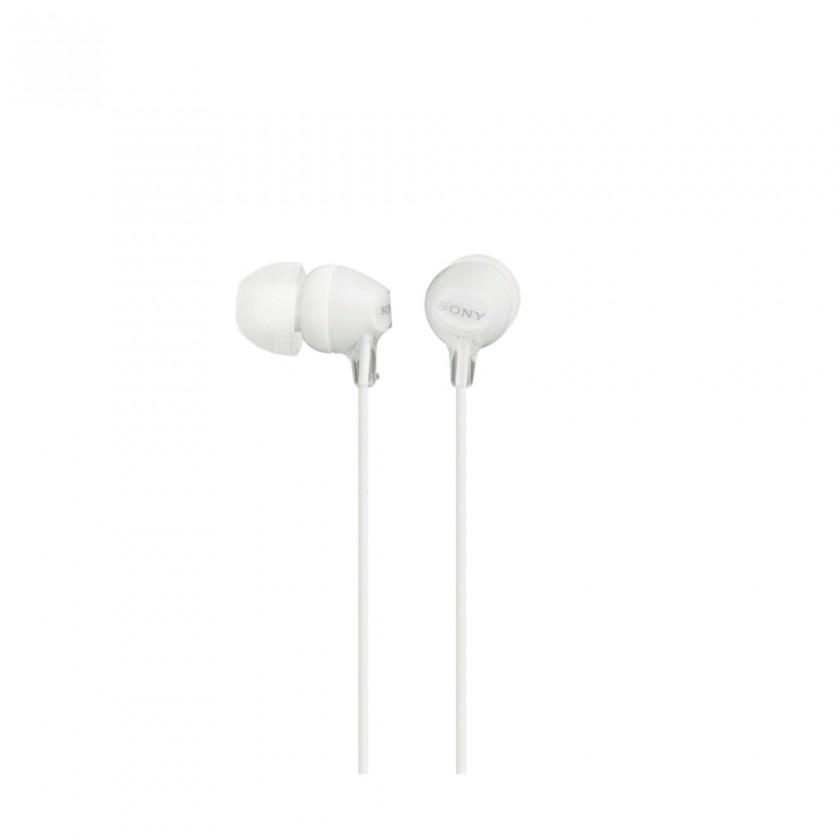 Štupľové Sony Slúchadlá MDR-EX15AP biela