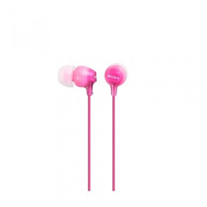 Štupľové Sony Slúchadlá MDR-EX15AP ružová