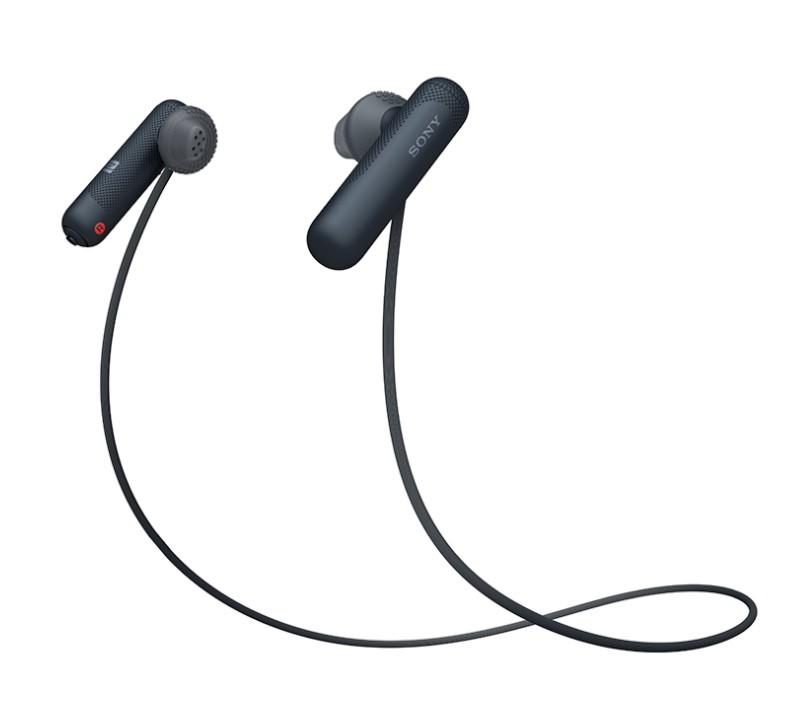 Štupľové Športové bezdrôtové slúchadlá Sony WI-SP500B, čierna