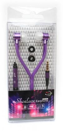 Štupľové Špuntová slúchadlá s mikr. 3,5mm JACK - fialová
