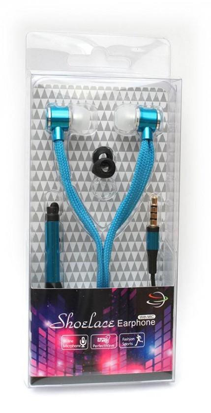 Štupľové Špuntová slúchadlá s mikr. 3,5mm JACK - modrá