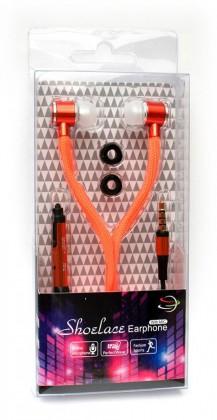 Štupľové Špuntová slúchadlá s mikr. 3,5mm JACK - oranžová ROZBALENÉ