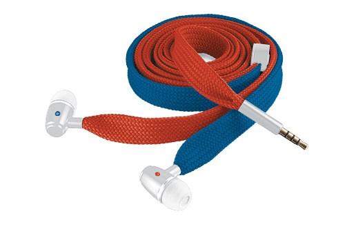 Štupľové TRUST Slúchadlá Urban Revolt Lace In-ear Headset - red & blue, šp