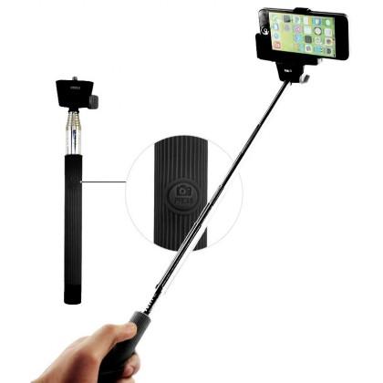 Stylusy a selfie držiaky C-TECH teleskopický selfie držák pro mobil