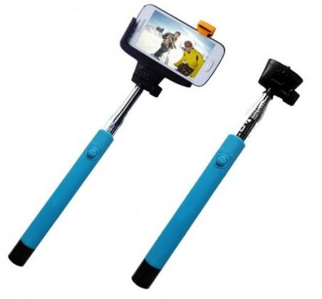 Stylusy a selfie držiaky C-TECH teleskopický selfie držák pro mobil, modrý