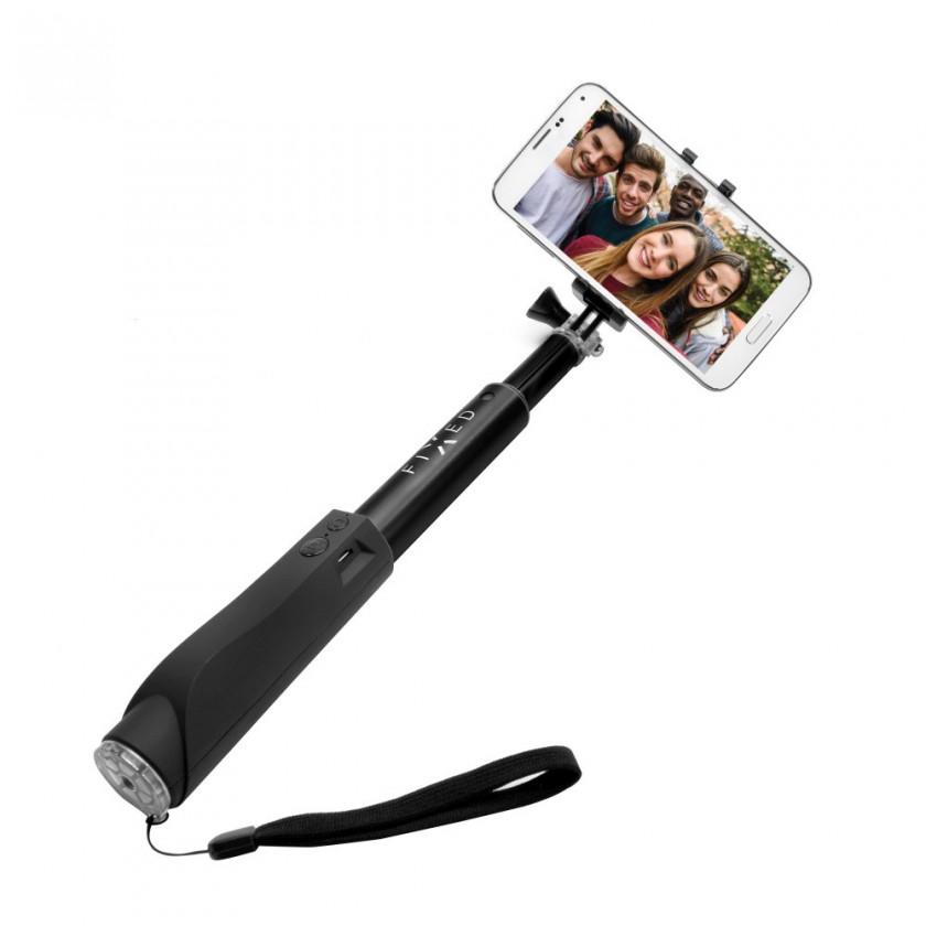 Stylusy a selfie držiaky Selfie tyč Fixed sa spúšťou, teleskopická, až 97cm, čierna