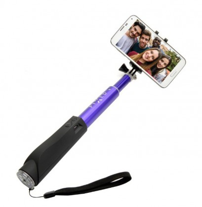 Stylusy a selfie držiaky Teleskopická selfie tyč FIXED s BT spouští, modrá