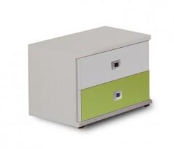 Sunny - Nočný stolík (alpská biela so zeleným jablkom)