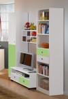 Sunny - Obývacia stena (alpská biela so zeleným jablkom)