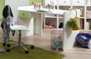 Sunny - Pracovný stôl (alpská biela so zeleným jablkom)