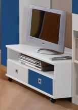 Sunny - TV stolík (alpská biela s modrou)