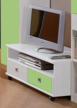 Sunny - TV stolík (alpská biela so zeleným jablkom)