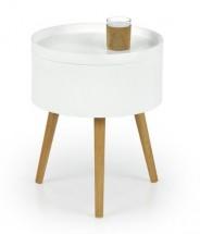 Supra - Konferenčný stolík (biela, dub sonoma)