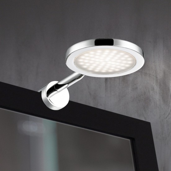 Suri - Nástenné svietidlo, LED (chróm)