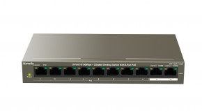 Switch Tenda TEF1110P-8-102W, PoE, 102W, 9-port