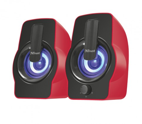 Systém 2.0 Gemi RGB 2.0 Speaker Set - red