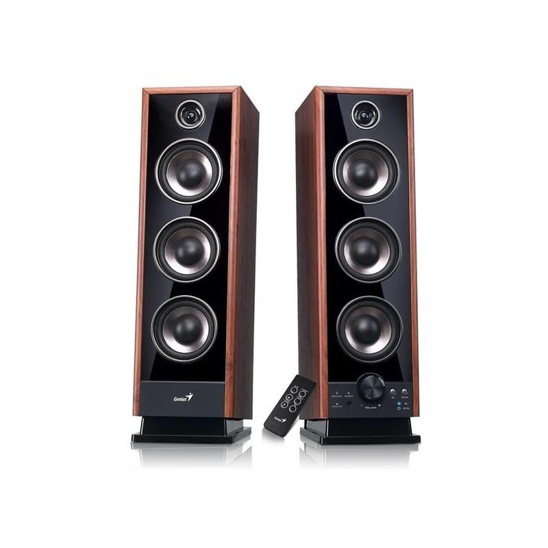 Systém 2.0 GENIUS repro SP-HF2020 V2, 2.0, 60W, Sound EQ, opt. vst.,Drevené