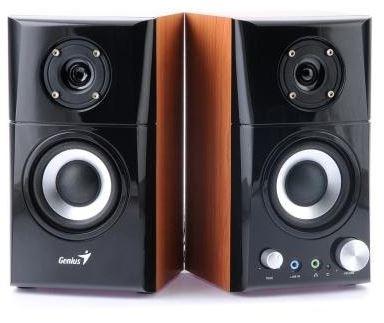 Systém 2.0 Reproduktory Genius SP-HF 599A, 2.0, 14W, čierna/imitácia dreva