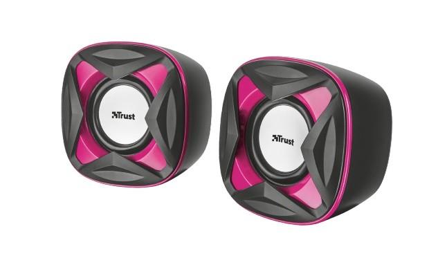 Systém 2.0 TrustXilo Compact 2.0 Speaker Set, ružové 21181