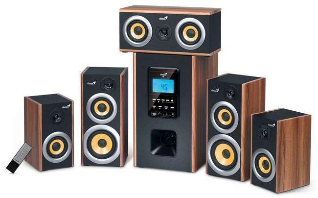 Systém 5.0 a viac GENIUS repro SW-HF 5.1 5200/ 5.1/150 W/ drevo